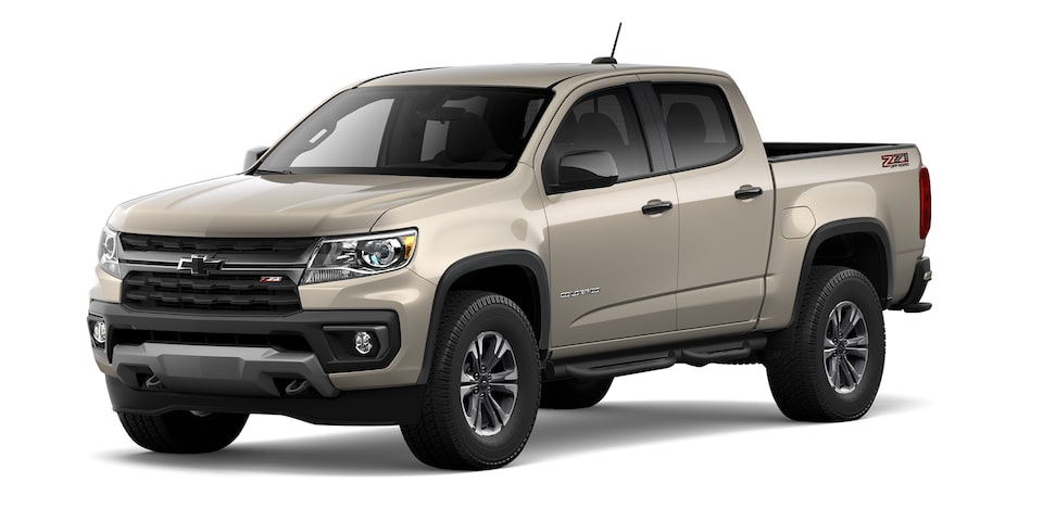 Chevrolet Colorado 2021 en color gobi metálico